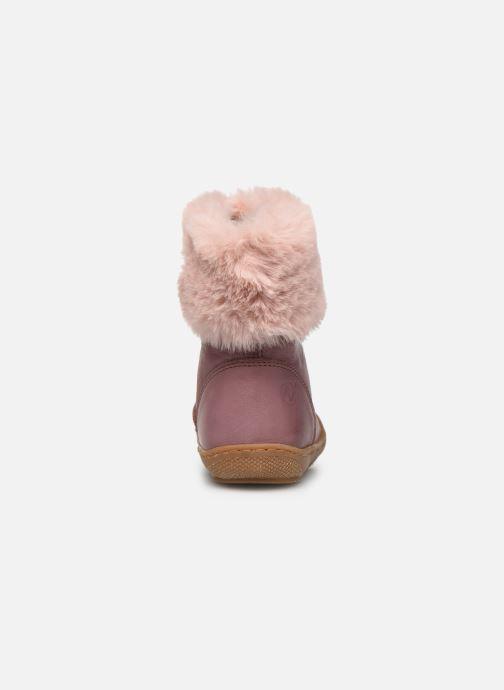Stiefel Naturino Tender rosa ansicht von rechts