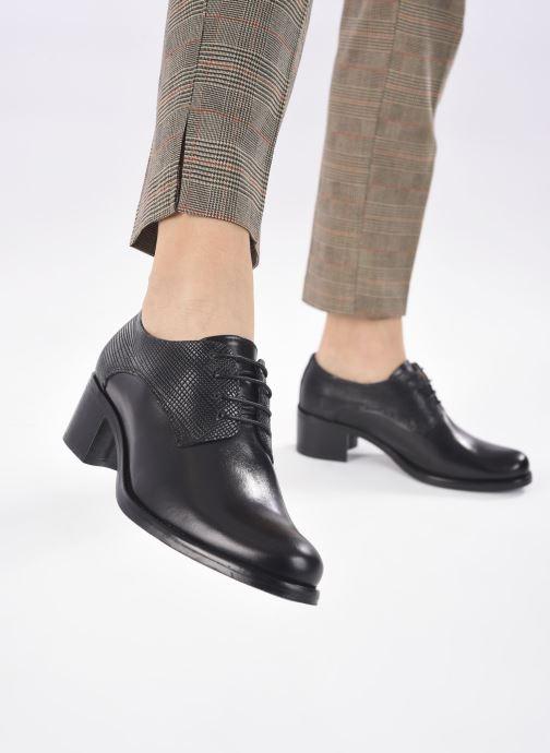 Zapatos con cordones Georgia Rose Nicia Negro vista de abajo