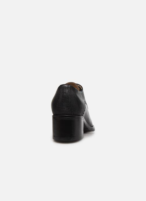 Zapatos con cordones Georgia Rose Nicia Negro vista lateral derecha