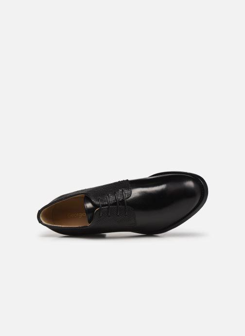 Zapatos con cordones Georgia Rose Nicia Negro vista lateral izquierda
