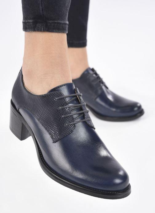 Zapatos con cordones Georgia Rose Nicia Azul vista de abajo