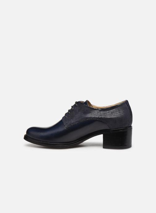 Zapatos con cordones Georgia Rose Nicia Azul vista de frente