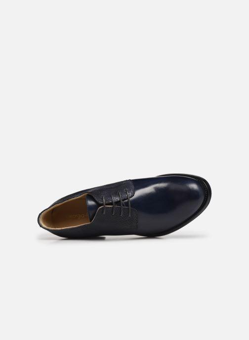 Zapatos con cordones Georgia Rose Nicia Azul vista lateral izquierda
