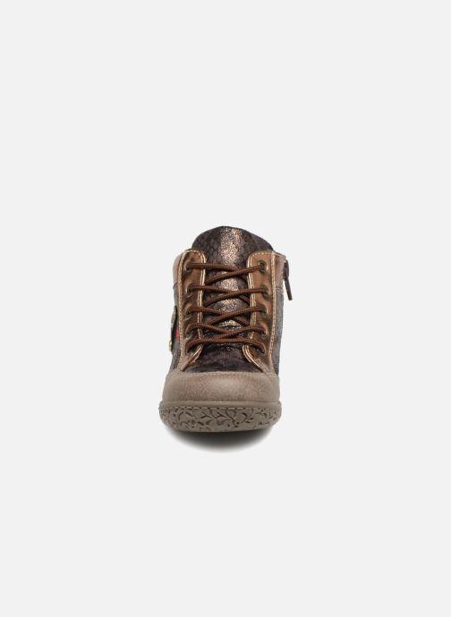 Bottines et boots NA! Acapulse Or et bronze vue portées chaussures
