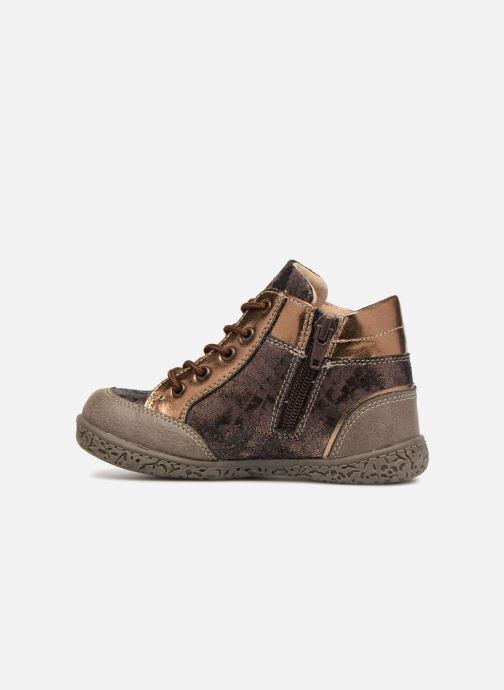 Bottines et boots NA! Acapulse Or et bronze vue face