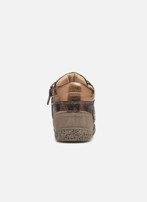 Bottines et boots NA! Acapulse Or et bronze vue droite