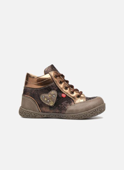 Bottines et boots NA! Acapulse Or et bronze vue derrière