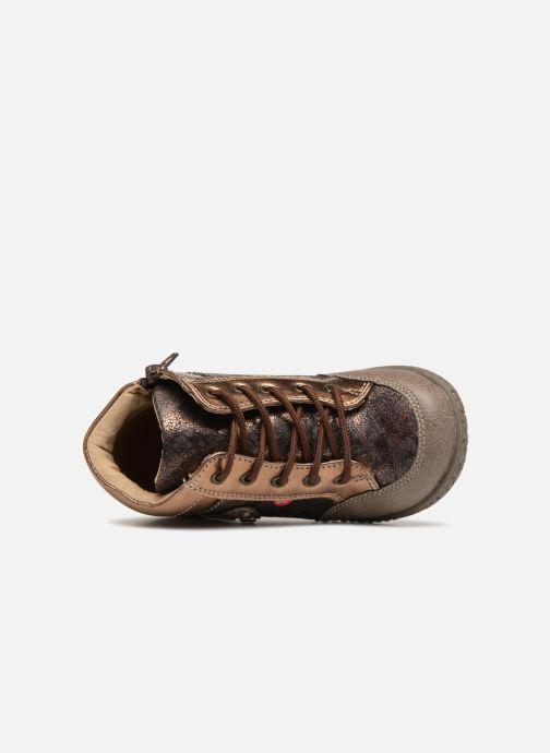 Bottines et boots NA! Acapulse Or et bronze vue gauche