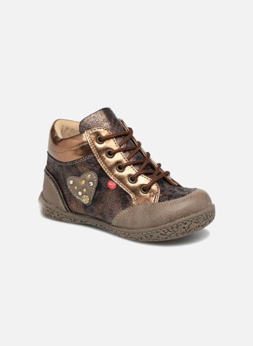 Bottines et boots NA! Acapulse Or et bronze vue détail/paire