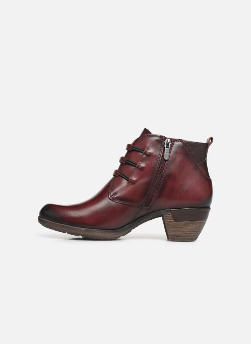 Ankle boots Pikolinos Rotterdam 902-8746 Burgundy front view