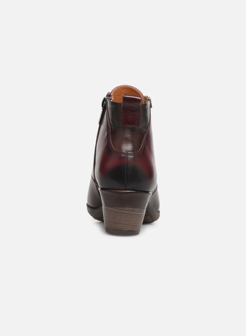 Ankle boots Pikolinos Rotterdam 902-8746 Burgundy view from the right