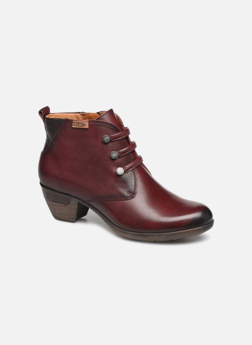 Ankle boots Pikolinos Rotterdam 902-8746 Burgundy detailed view/ Pair view