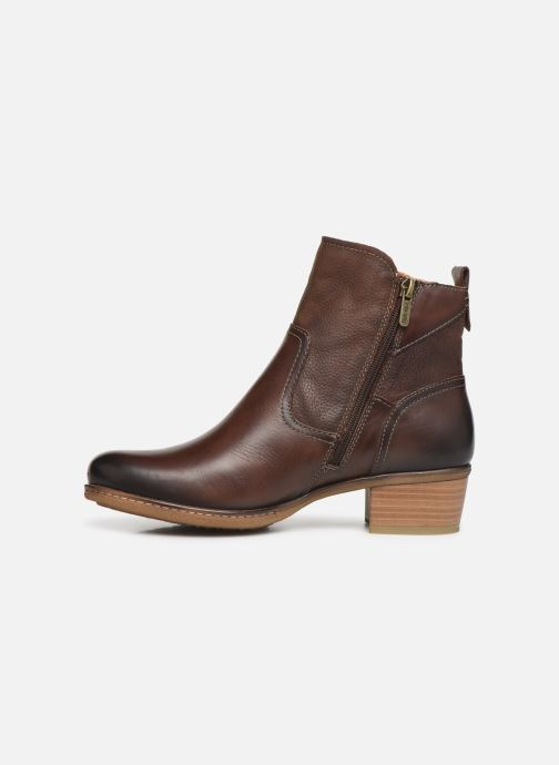 Ankle boots Pikolinos Zaragoza W9H-8704 Brown front view