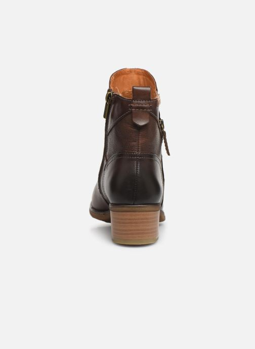 Ankle boots Pikolinos Zaragoza W9H-8704 Brown view from the right