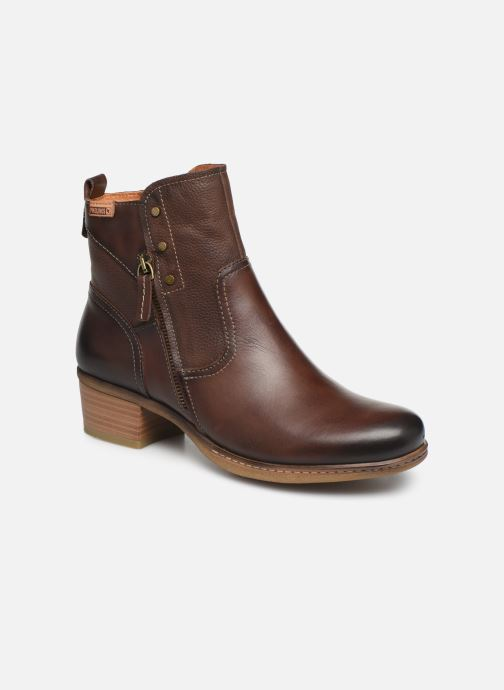 Ankle boots Pikolinos Zaragoza W9H-8704 Brown detailed view/ Pair view