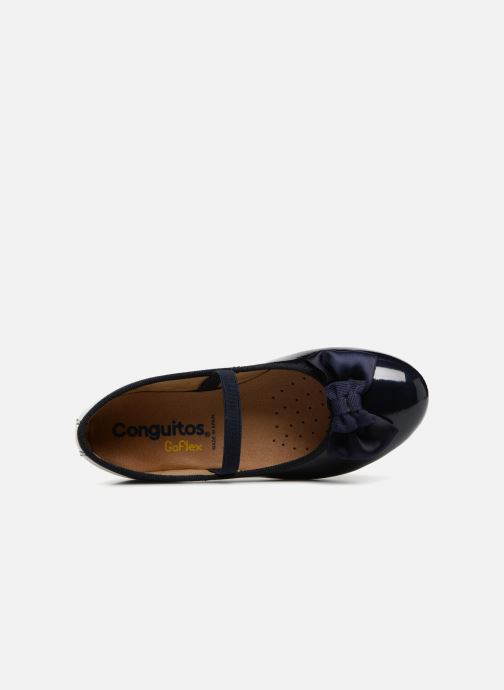 Ballet pumps Conguitos Ariana Blue view from the left
