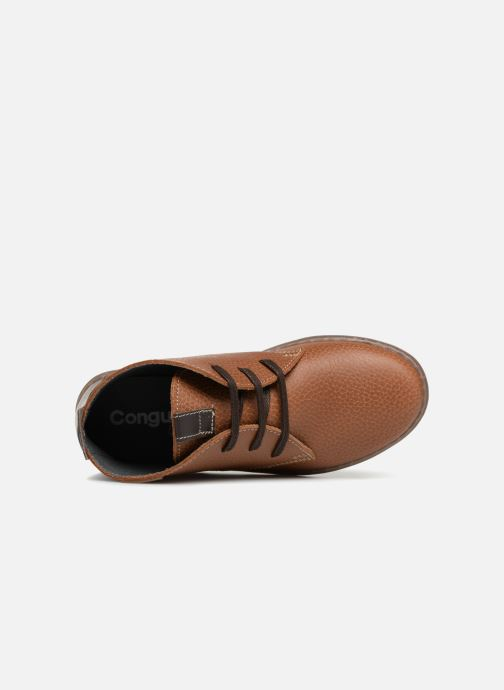 Chaussures à lacets Conguitos Pablo Marron vue gauche