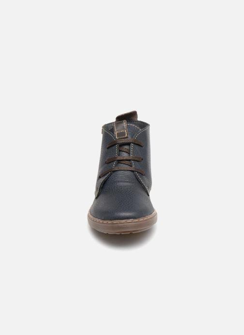Chaussures à lacets Conguitos Pablo Bleu vue portées chaussures