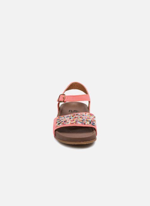 Sandales et nu-pieds PèPè Elsa 2 Orange vue portées chaussures