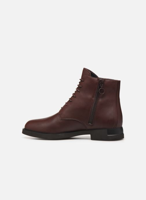 Ankle boots Camper Iman K400342 Burgundy front view