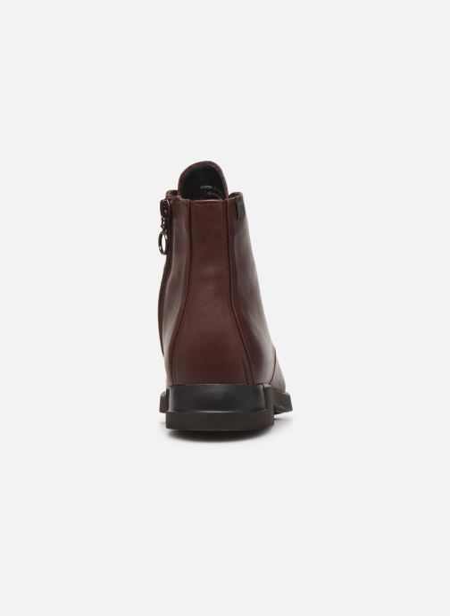 Ankle boots Camper Iman K400342 Burgundy view from the right