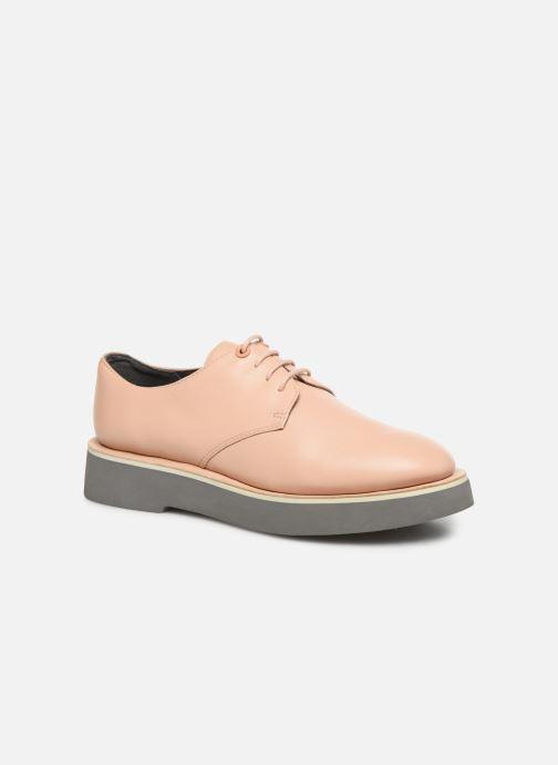 Zapatos con cordones Camper Tyra K200734 Beige vista de detalle / par