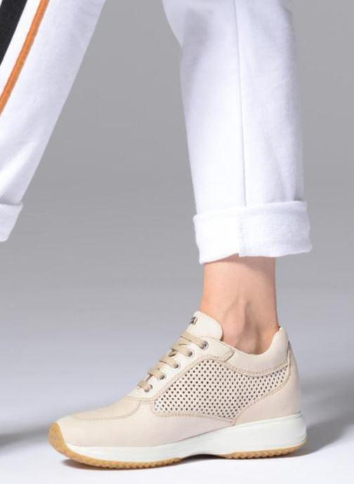 Sneaker Geox D HAPPY A D4258A beige ansicht von unten / tasche getragen