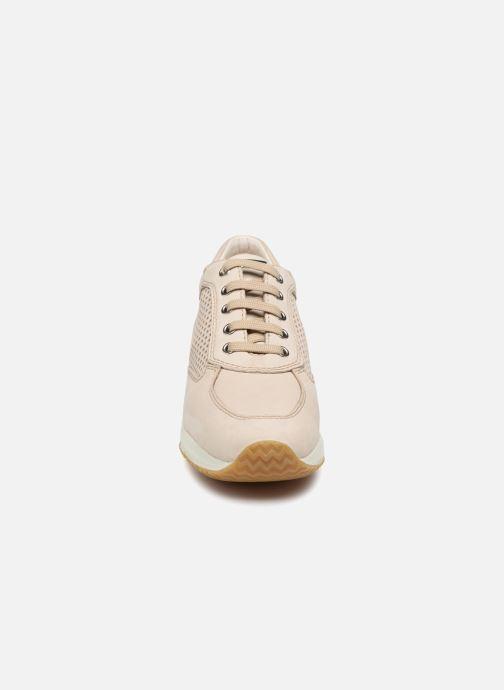 Sneaker Geox D HAPPY A D4258A beige schuhe getragen