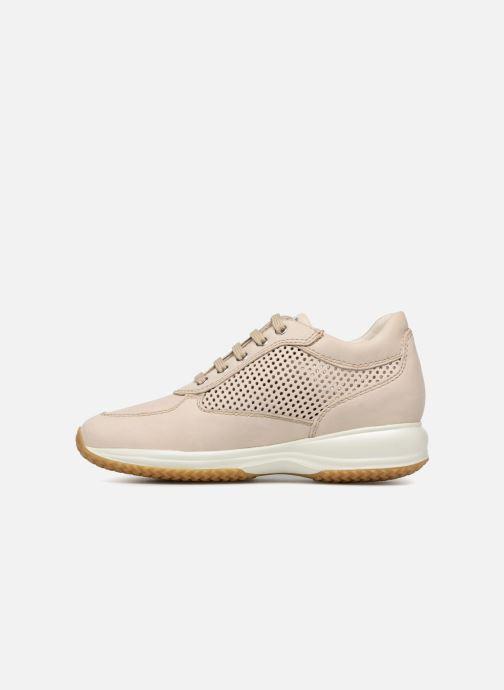 Sneaker Geox D HAPPY A D4258A beige ansicht von vorne
