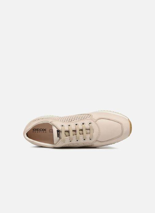 Sneakers Geox D HAPPY A D4258A Beige immagine sinistra
