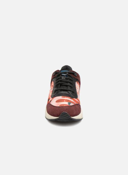 Baskets Geox D OMAYA C D540SC Rouge vue portées chaussures