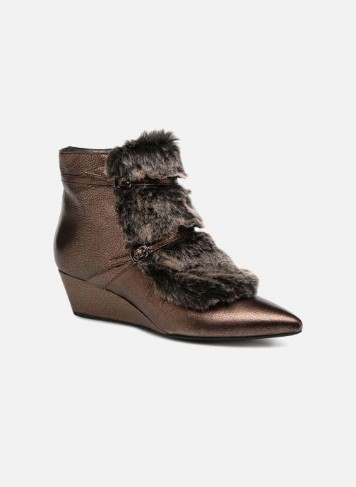 Bottines et boots Geox D JAUNIE D641RA Marron vue détail/paire