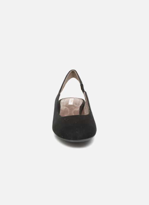 Ballerines Geox D CAREY B D64V8B Noir vue portées chaussures