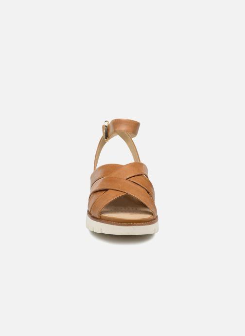 Sandali e scarpe aperte Geox D DARLINE B D721YB Marrone modello indossato
