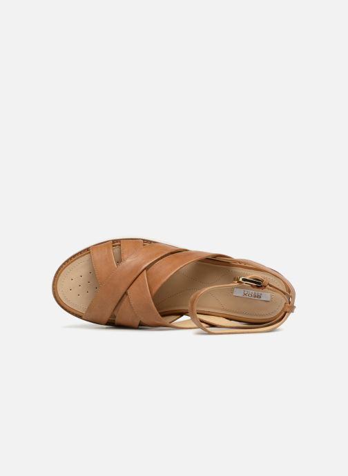 Sandali e scarpe aperte Geox D DARLINE B D721YB Marrone immagine sinistra
