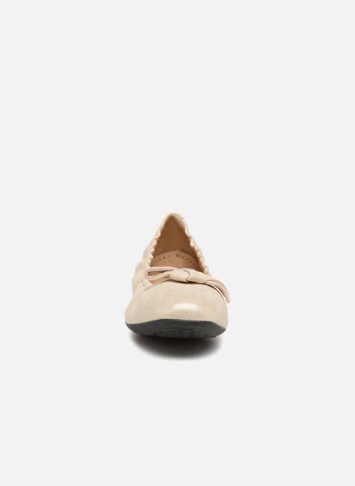 Ballerines Geox D LOLA 2FIT A D723DA 2 Or et bronze vue portées chaussures