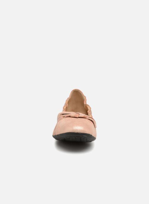 Ballerines Geox D LOLA 2FIT A D723DA 2 Rose vue portées chaussures