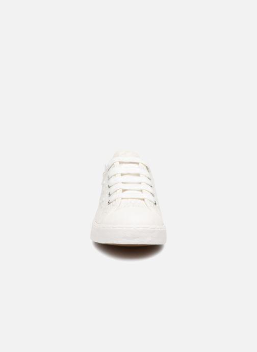 Baskets Geox J CIAK G. F J7204F Blanc vue portées chaussures