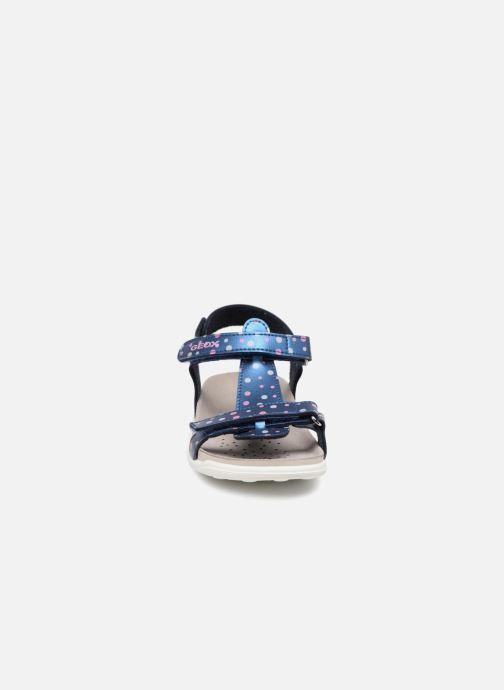 Sandales et nu-pieds Geox J S.ALOHA B J7214B Bleu vue portées chaussures