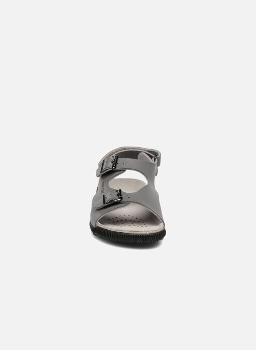 Sandales et nu-pieds Geox J SANDAL STORM A J7242A Gris vue portées chaussures