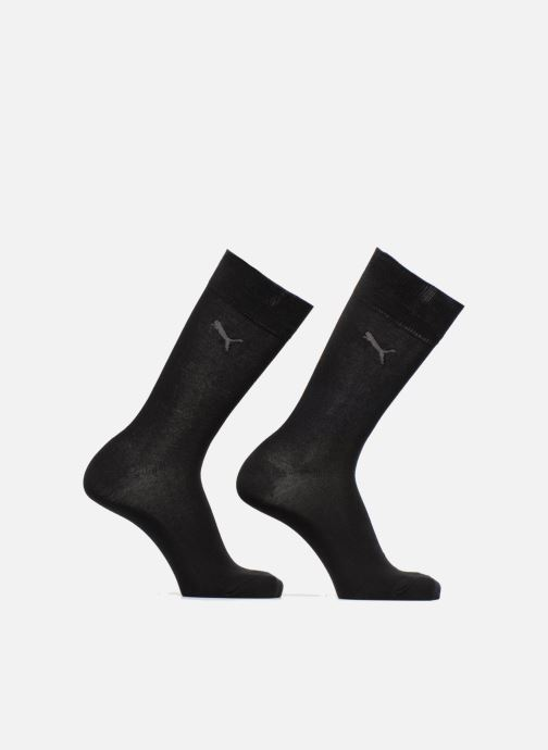Chaussettes et collants Puma Socks CLASSIC SOCKS LOT DE 2 Uni Noir vue détail/paire