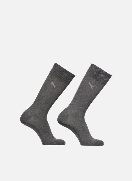 Chaussettes et collants Puma Socks CLASSIC SOCKS LOT DE 2 Uni Gris vue détail/paire