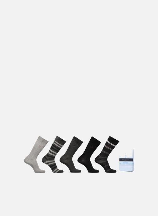 Chaussettes et collants Tommy Hilfiger GIFT BOX CHAUSSETTES MEN DUO STRIPES LOT DE 5 Bleu vue détail/paire