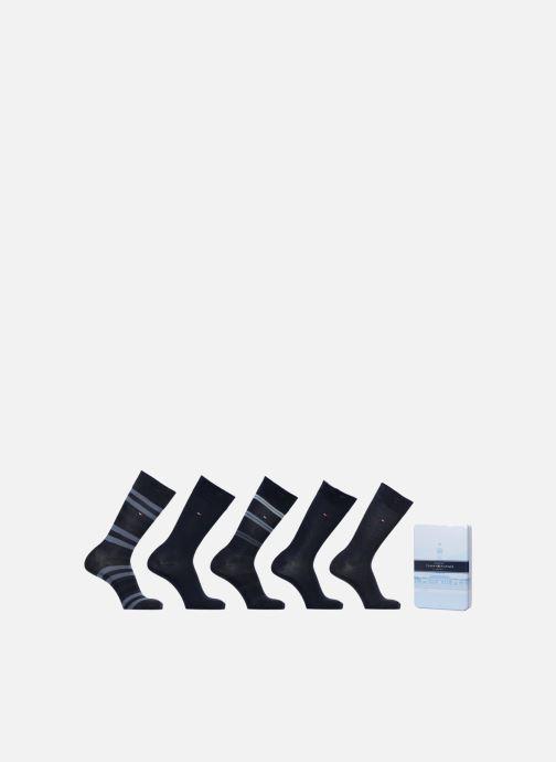 Chaussettes et collants Tommy Hilfiger GIFT BOX CHAUSSETTES MEN DUO STRIPES LOT DE 5 Noir vue détail/paire