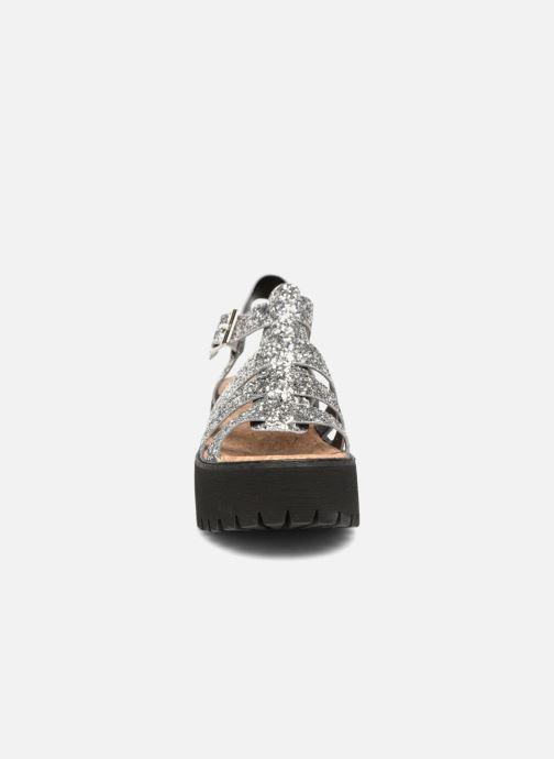 Sandales et nu-pieds Coolway FLAMINGO Argent vue portées chaussures