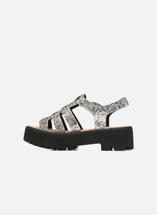 Sandales et nu-pieds Coolway FLAMINGO Argent vue face