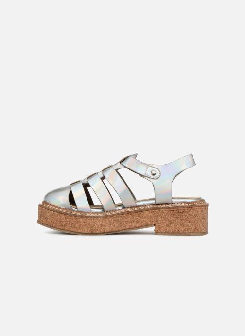 Sandales et nu-pieds Coolway PAPAYA Argent vue face
