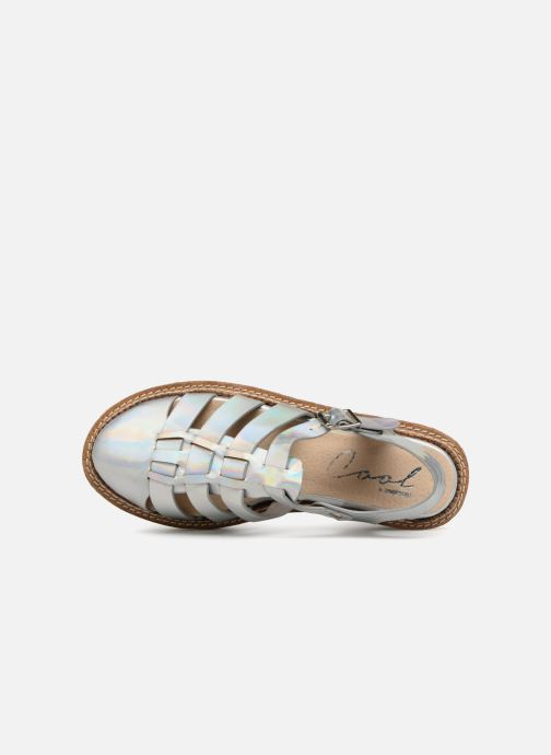 Sandals Coolway PAPAYA Silver view from the left