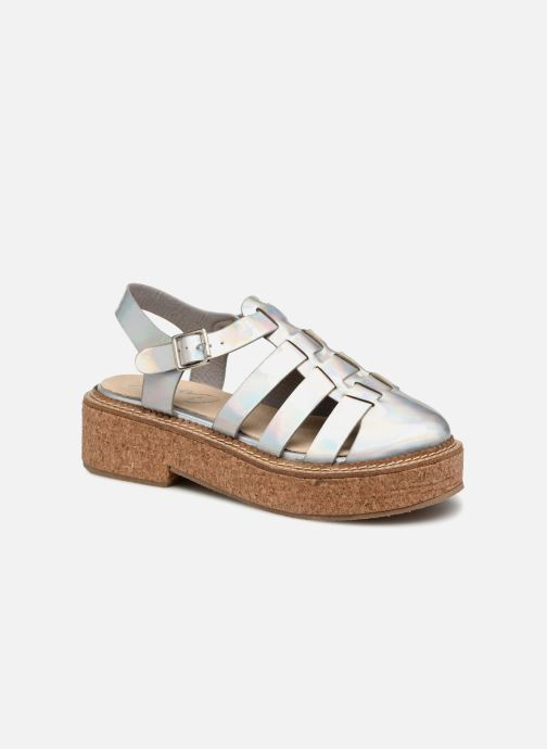 Sandals Coolway PAPAYA Silver detailed view/ Pair view