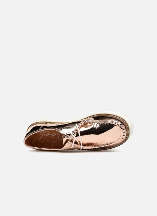 Zapatos con cordones Coolway PINEAPPLE Rosa vista lateral izquierda